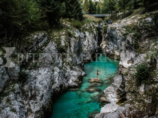 Soca river in Slovenia